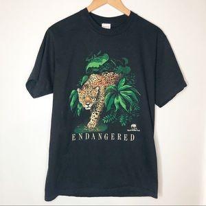 Artex Vintage World Wildlife Fund Leopard T Shirt